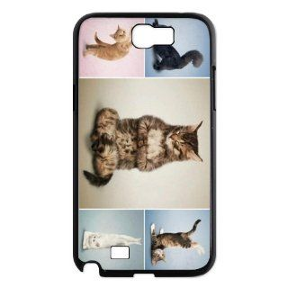 Samsung Galaxy Note 2 N7100 Cover with Popular Yoga Cats design case Cell Phones & Accessories