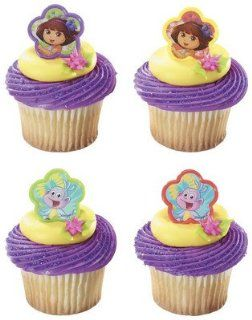 144 ct. ~ Dora Explorer Springtime Friends Ring DecoPics ~ Cupcake Decoration ~ Cake Decoration  Other Products