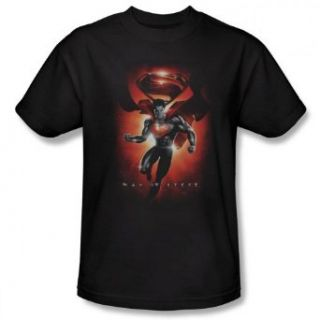 Superman Man of Steel   Title Men's T Shirt Clothing