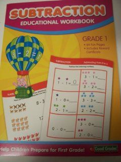 Good Grades Educational Workbook ~ Subtraction (Grade 1) (Pig Hot Air Balloon Ride Cover; 2012) Toys & Games
