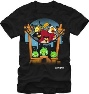 Angry Birds Above You Mens Black Tee (Medium) Clothing