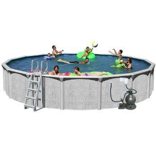 Splash Pools Above Ground Round Pool Package, 24 Feet by 52 Inch  Above Ground Swimming Pools  Patio, Lawn & Garden