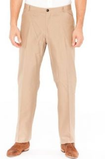 Emporio Armani BROWN Cotton Pants Trousers, 58, Brown at  Men�s Clothing store
