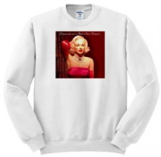 "Dawn Gagnon Photography Messages   Marilyn Monroe, The original material girl Marilyn Monroe states ""Diamonds are a Girls Best Friend""   Sweatshirts Novelty Athletic Sweatshirts Clothing"