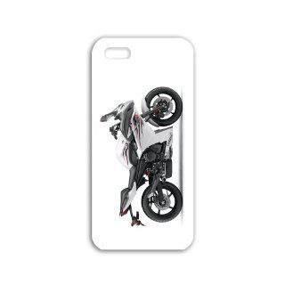 Make Iphone 5/5S Motorcycles Series yamaha fzr White Case wide Bikes Motorcycles Black Case of Romantic Cellphone Shell For Men Cell Phones & Accessories