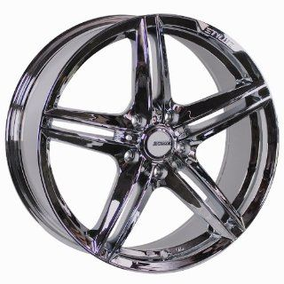 "Styluz S006 5 Star Split Spoke All Chrome Wheel (18x7.5""/ 5x100mm) Automotive"