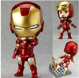 New Arrival The Avengers Iron Man 3pcs/set High quality PVC Action Figure approximately 9CM high Toys & Games