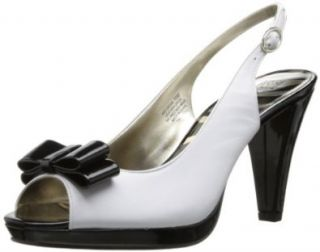 AK Anne Klein Women's Europa Leather Platform Pump Shoes