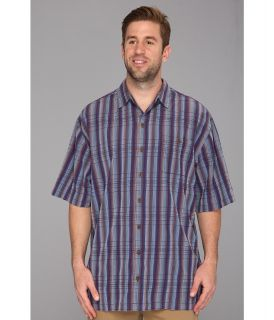 Tommy Bahama Big & Tall Big Tall Ali Baba Stripe Camp Shirt Mens Short Sleeve Knit (Red)
