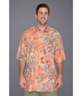 Tommy Bahama Big & Tall Big Tall Botanica Bay Camp Shirt Mens Short Sleeve Button Up (Orange)
