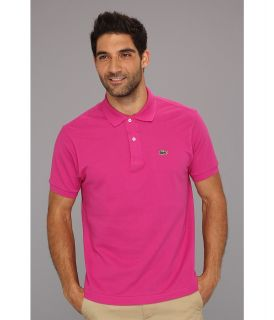 Lacoste Classic Pique Polo Shirt Mens Short Sleeve Knit (Pink)