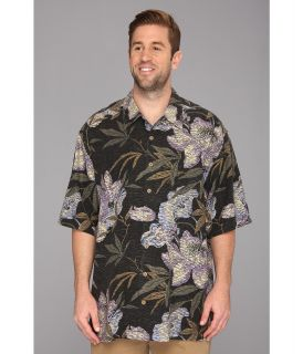 Tommy Bahama Big & Tall Big Tall Kaftan Floral Camp Shirt Mens Short Sleeve Knit (Black)