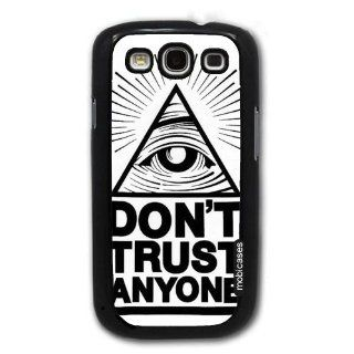 Quote   Don't Trust Anyone   Protective Designer BLACK Case   Fits Samsung Galaxy S3 SIII i9300 Cell Phones & Accessories