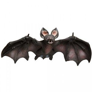 Poseable Large Vampire Bat Foam filled Latex 32 inch Wingspan Hanging Halloween Prop Toys & Games
