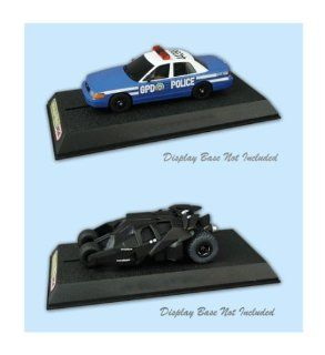 Scalextric 143 Batman Begins Batmobile & Gotham City Police Slot Car Set Toys & Games