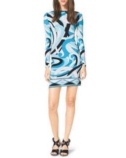 MICHAEL Michael Kors  Long Sleeve Printed Jersey Dress