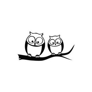 Owl Look Below   Cartoon Decal Vinyl Car Wall Laptop Cellphone Sticker   Wall Decor Stickers