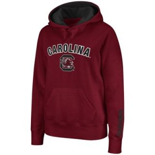 South Carolina Gamecocks Ladies Arch Logo Pullover Hoodie   Garnet