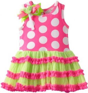 Rare Editions Baby Baby Girls Newborn Dot Tutu Dress Clothing