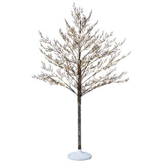 Holiday Living 5 ft Indoor/Outdoor Pine Pre Lit Decorative Artificial Tree 108 White Led Lights