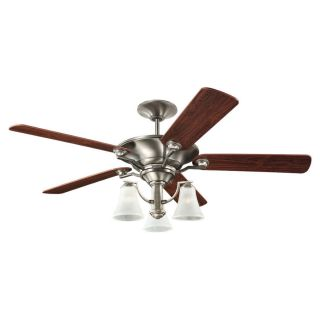 Sea Gull Lighting Somerton 52 in Antique Brushed Nickel Indoor Downrod or Flush Mount Ceiling Fan with Light Kit
