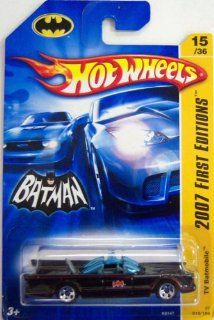 Mattel Hot Wheels 2007 New Models 164 Scale Black 1966 Television Series Batmobile Die Cast Car #015 Toys & Games