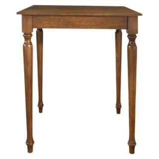 Dining Table Crosley Turned Leg Pub Table Set   Red Brown (Cherry)