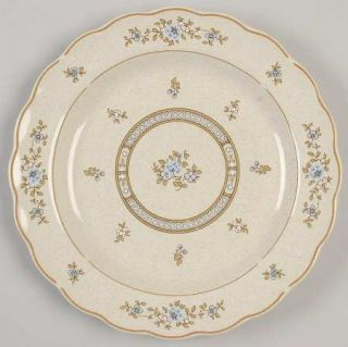 Royal Doulton Dorset Salad Plate, Fine China Dinnerware   Blue Flowers,Scalloped