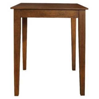 Dining Table Crosley Tapered Leg Pub Table   Red Brown (Cherry)