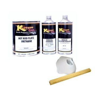 HOT ROD FLATZ Ultra Bright Snow White Quart Kit URETHANE Flat Auto Car Paint Kit With Slow Urethane Reducer Automotive