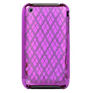 Hard Plastic Snap on Cover Fits Apple iPhone 3G 3GS Hot Pink Diamond Check Electroplated Slim Back AT&T (does NOT fit Apple iPhone or iPhone 4/4S or iPhone 5/5S/5C) Cell Phones & Accessories