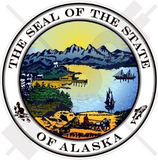 "ALASKA State Seal USA American Alaskan 100mm (4"") Vinyl Bumper Sticker, Decal"