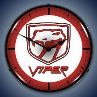 Dodge Viper Logo Lighted Wall Clock