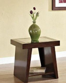 Jelani Dark Brown Cherry End Table by Acme Furniture   End Tables