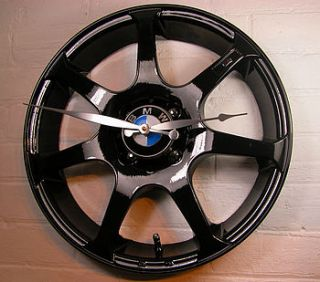 personalised real alloy wheel bmw clock by vyconic