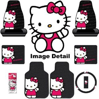 Hello Kitty Sanrio Waving Auto Car Truck SUV Accessories Interior Combo Kit Gift Set   8PC Automotive