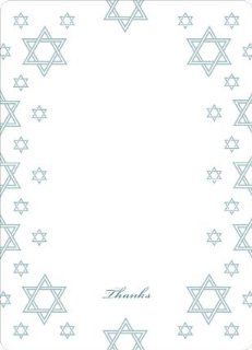 Star of David Border Note Cards  Thank You Greeting Cards