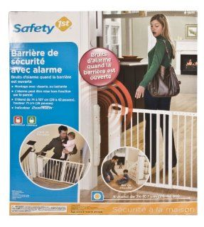 Safety 1st Security Alarm Gate, White  Indoor Safety Gates  Baby