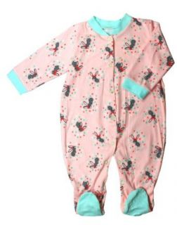 Clickcago Baby Girl Pink Footie , Great for gift giving Clothing