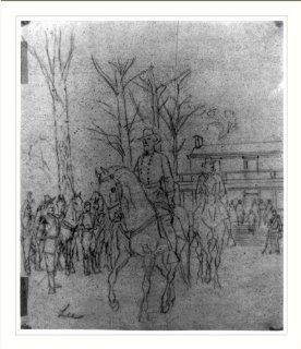 Historic Print (M) [Robert E. Lee leaving the McLean House following his surrender to Ulysses S. Grant]