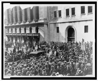 Historic Print (M) [Crowd of people gather outside the New York Stock Exchange following the Crash of 1929]