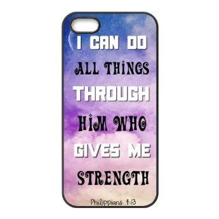 """I can do all things through him who gives me strength""   Philippians 413 Accessories Apple Iphone 5/5s TPU Cases Covers Cell Phones & Accessories"