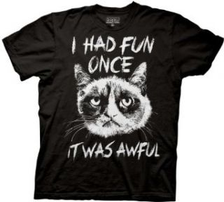 Grumpy Cat I Had Fun Once SKetch T shirt Movie And Tv Fan T Shirts Clothing