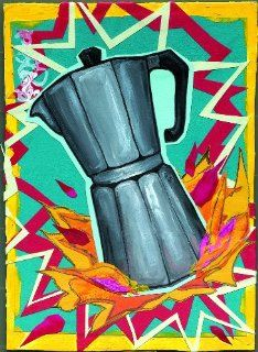 BOXED SET OF NOTE CARDS [SDI]   Spazzy Coffee Pot   Super Stylish With Modern Flair