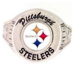 Pittsburgh Steelers Ring   NFL Football Fan Shop Sports Team Merchandise  Sports & Outdoors