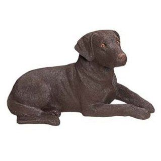 Sandicast Labrador Retriever Dog Figurine   Chocolate   Collectible Figurines