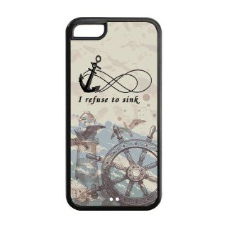Infinity Anchor I Refuse to Sink Iphone 5C Protect Hard Cover Case Cell Phones & Accessories