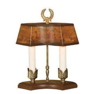 Mario Lamps 10M243 2 Light Mini Table Lamp, Brown
