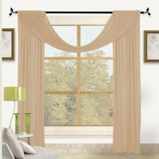 Bella Light Weight Jersey 30x242 Large Window Scarf Valance Gold   Window Treatment Valances