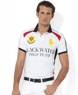 Polo Ralph Lauren Shirt, Custom Fit Short Sleeve Black Watch Airflow Jersey Polo Shirt   Polos   Men